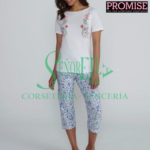 Pijama Promise N05132 pantalón pirata