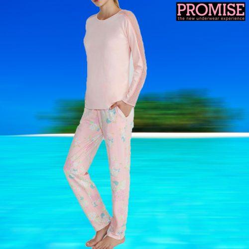 Pijama Promise pantalón largo y manga larga