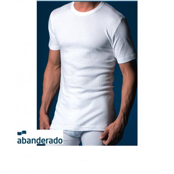 ABANDERADO Camiseta de Manga Corta Cuello Redondo de Algod/ón Canal/é Hombre