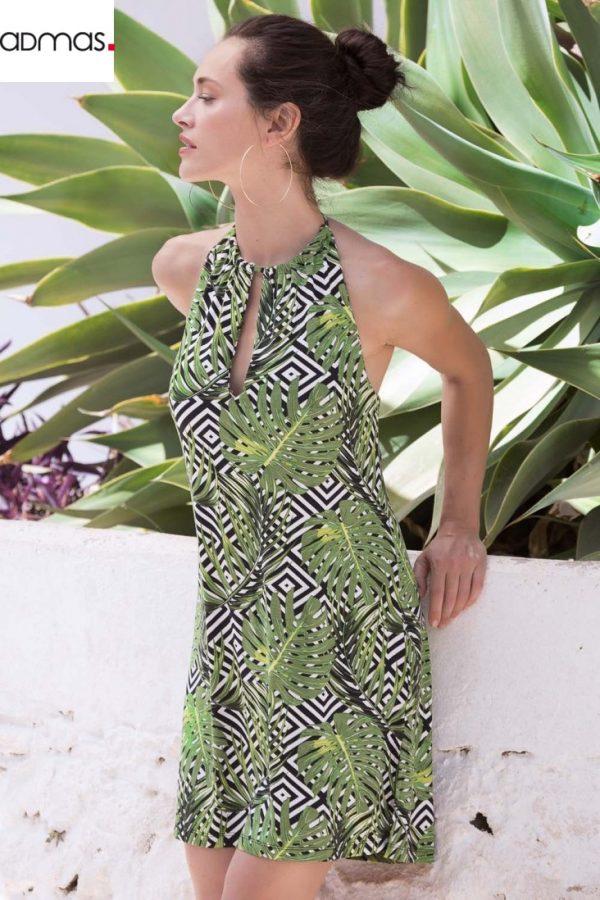 vestido-sin-mangas-hojas-y-rayas…